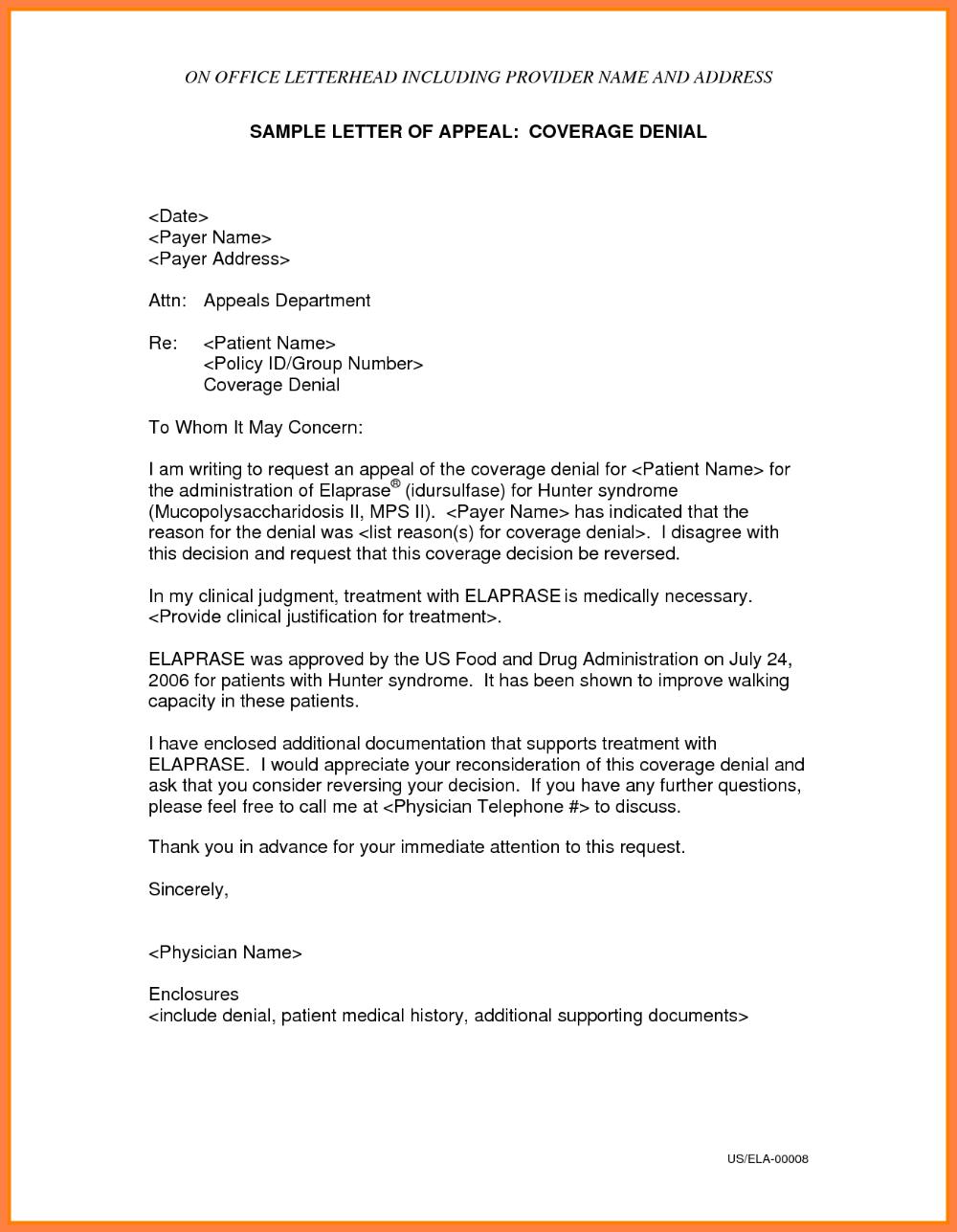 Insurance Denial Letter Template Sales Intro Letter With Insurance