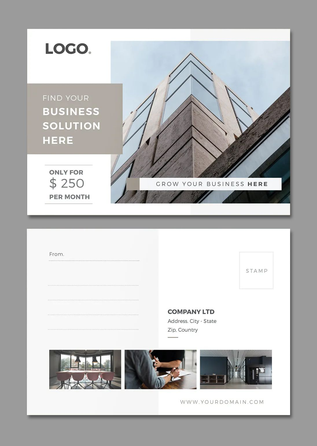 Business Postcard Template Indesign Business Postcards Postcard Template Postcard Design