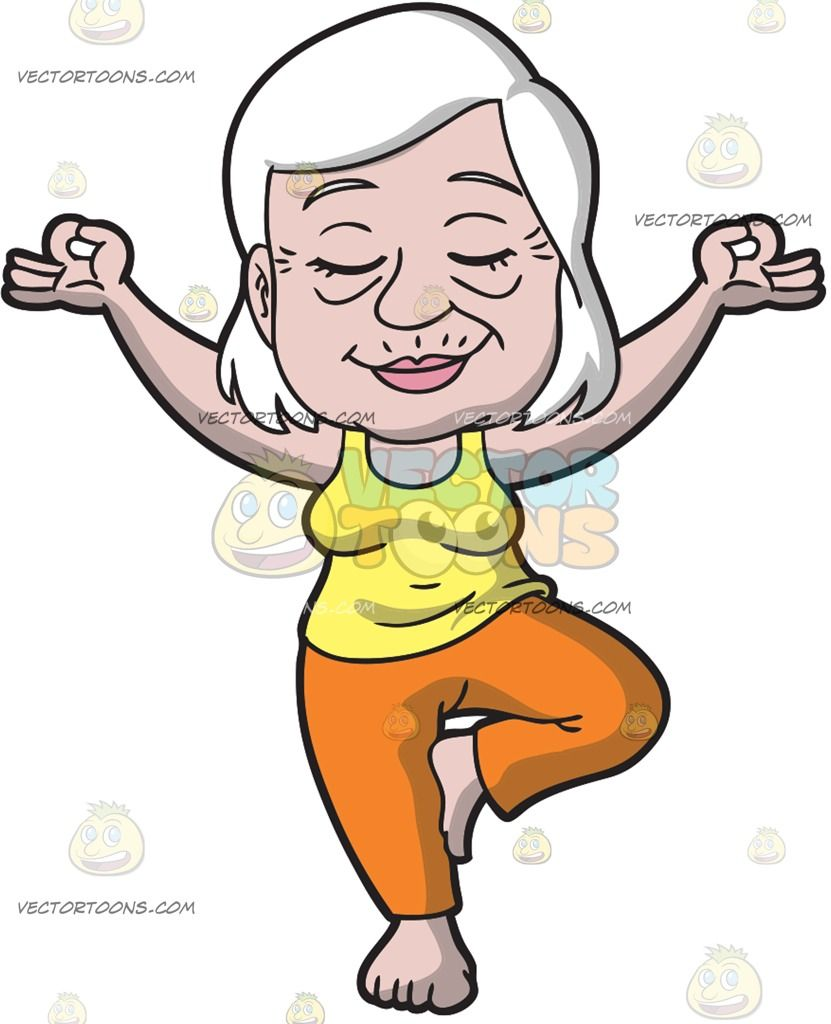 An Old Woman Doing Yoga An Old Lady With White Hair -4030