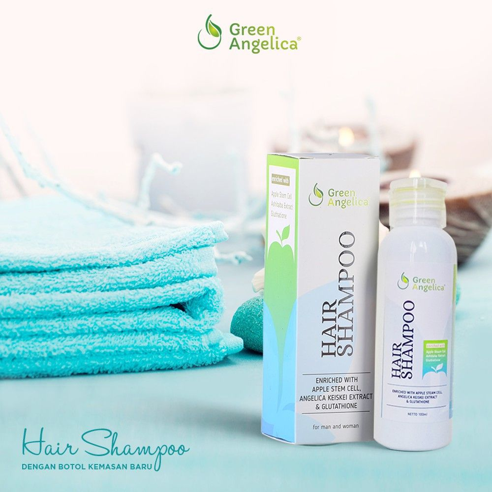 Shampo Obat Botak Penumbuh Rambut Rontok Hilangkan Ketombe Alami Green Angelica Shopee Indonesia Rambut Ketombe Rambut Rontok
