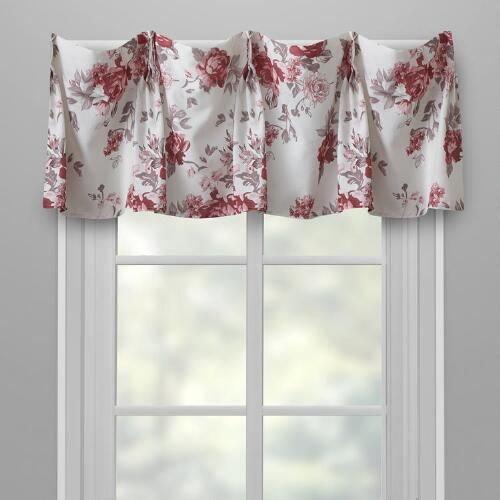One of my favorite discoveries at ChristmasTreeShops.com: Cabbage Rose Window Valances, Set of 2