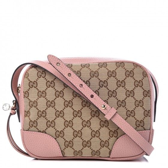 034609f332704e This is the authentic GUCCI Monogram Mini Bree Messenger Bag in Pink. This  chic cross