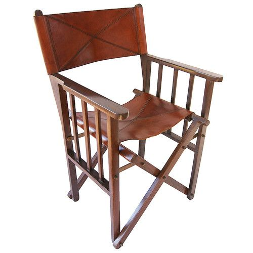 Kundra Tan Leather Directoru0027s Chair