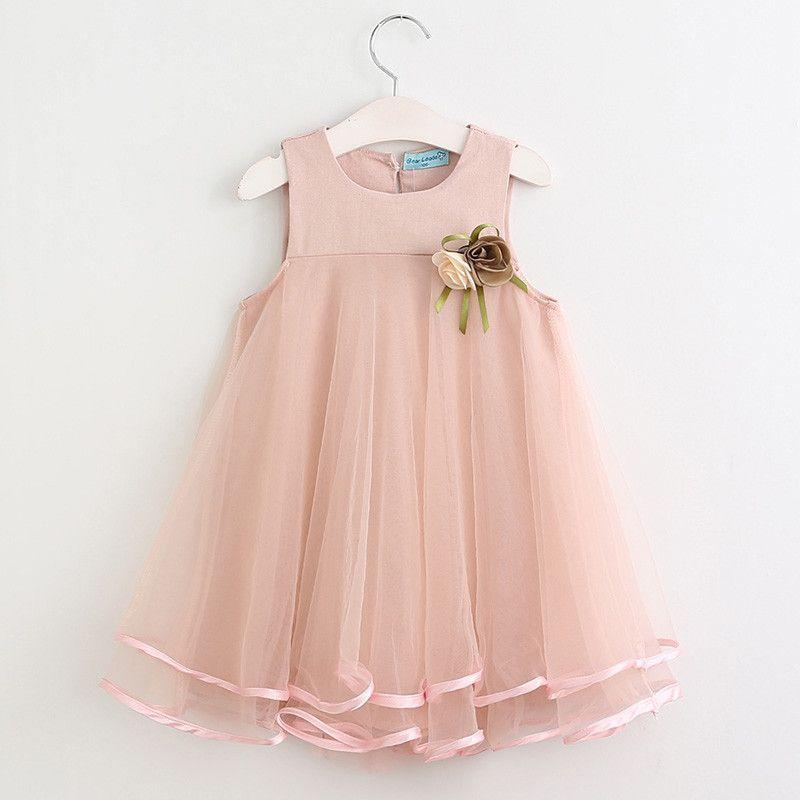Sleeveless Floral Design Dress for Girls | daminhas | Pinterest ...