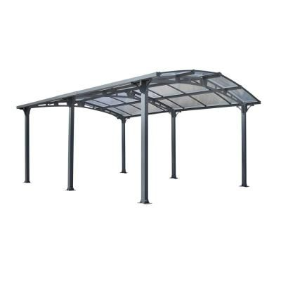 Gazebo Penguin Acay Carport 16 Ft 6 In D X 11 Ft 10 In W X 7 Ft 9 In H With Gutter In Slate 455006 The Home Depot In 2020 Modern Outdoor Structures Gazebo Carport