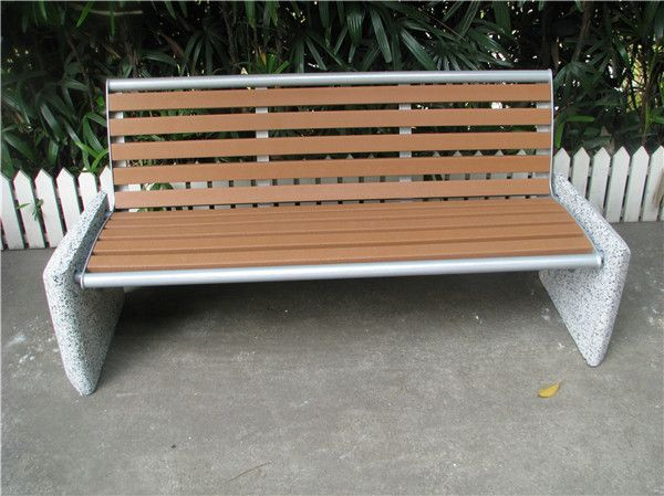 Strange Recycled Plastic Wood Outdoor Bench With Concrete Legs Creativecarmelina Interior Chair Design Creativecarmelinacom