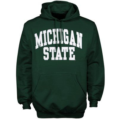 Michigan State Spartans Green Bold Arch Pullover Hoodie