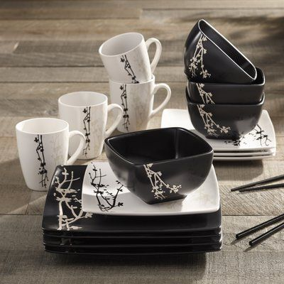 World Menagerie Gobin 16 Piece Full Set, Service for 4 #casualdinnerware