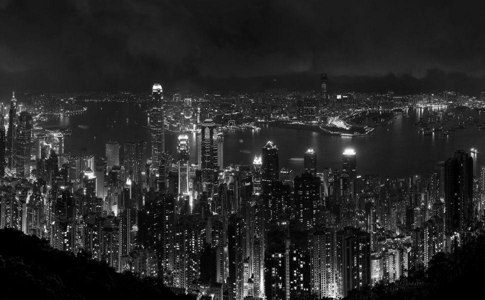 Hong Kong Black And White Hd Wallpaper Cityscape Wallpaper 4k Wallpaper Iphone Cityscape