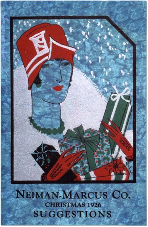 Neimanmarcus Christmas.The First Neiman Marcus Christmas Catalog Cover From 1926