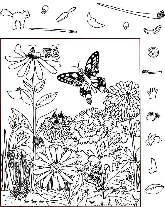 Sprig Is Coming Coloring Book Art Hidden Pictures Printables