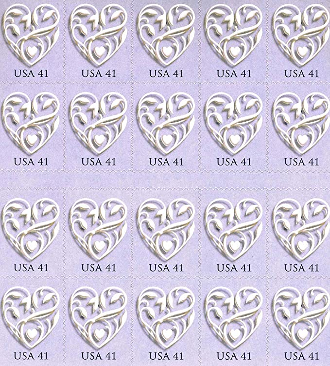 Amazon Com 2007 Wedding Heart 41c 4151 Single Sided Booklet Of 20 X 41 Cents Us Postage Stamps By U S Mail Toys Games Stamp Postage Stamps Postal Stamps