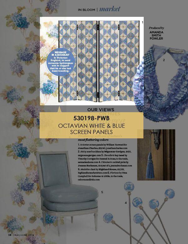 Our Octavian White & Blue Screen Panels (530198) was featured in Flower #jonathancharles #itsallinthedetail #williamyeoward #panels #screen #homedecor #interiordesign #interiors #interior123 #designers