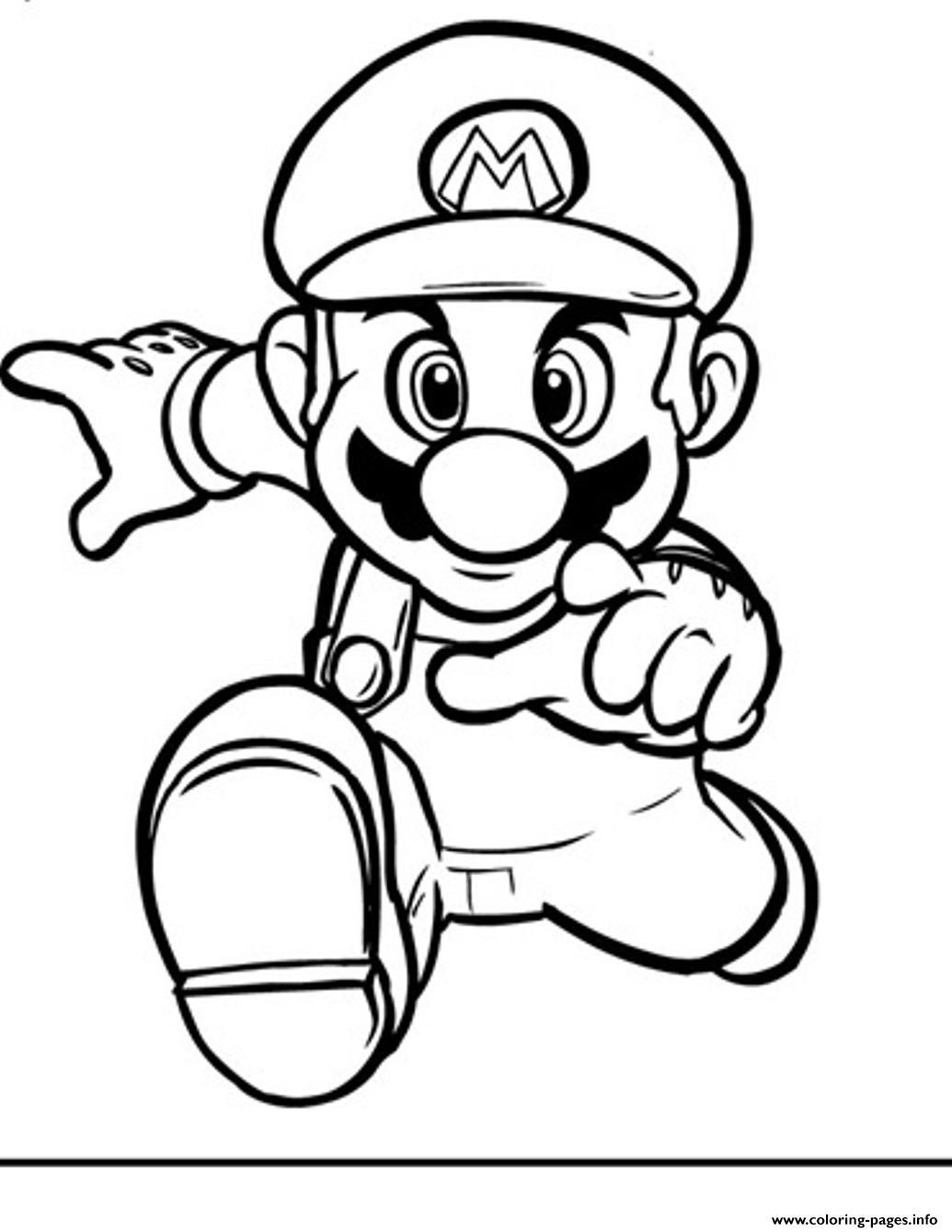 Print running mario bros s2394 coloring pages | MARIO | Pinterest