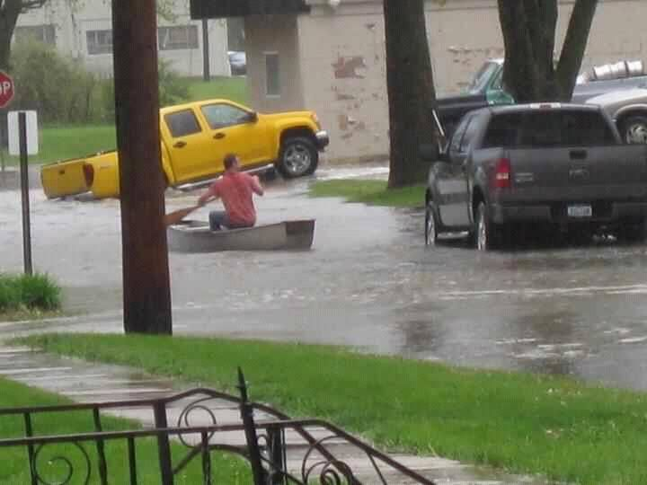 Those who didn't get hit by tornados April 14 2012 in southwest Iowa got flooded Glenwood, Iowa