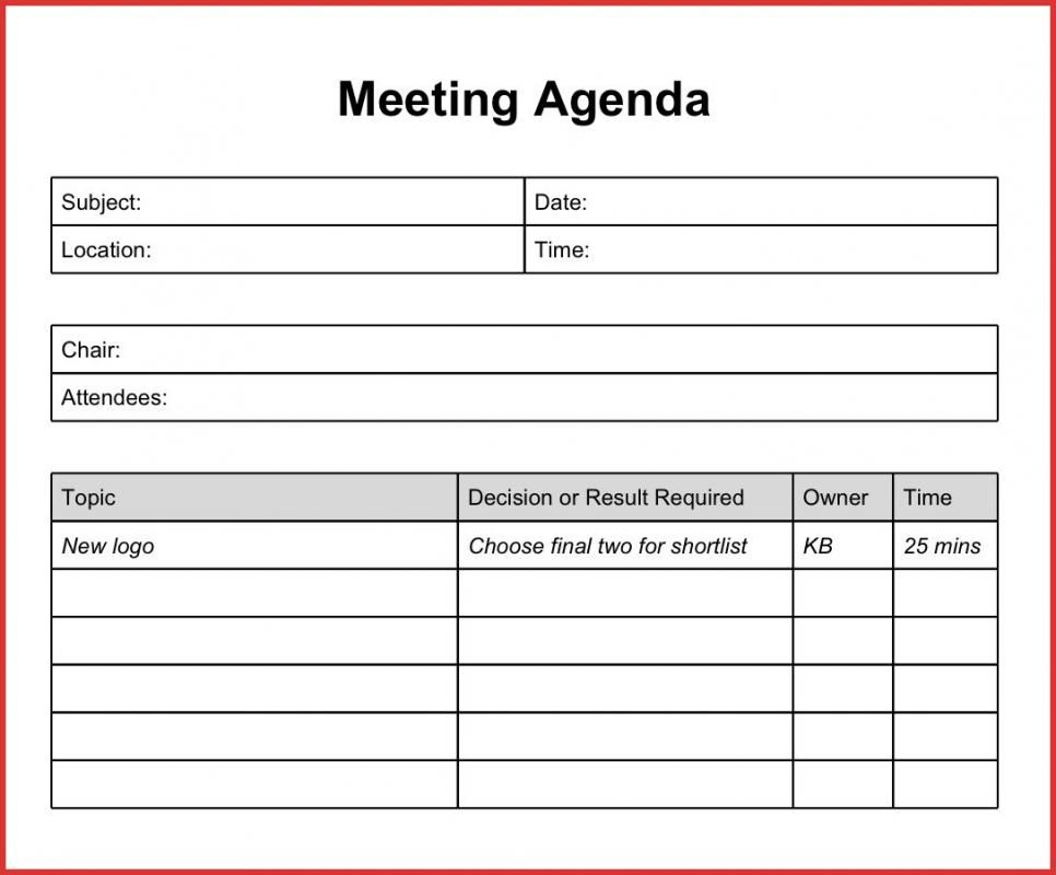 Staff Meeting Agenda Template With Images Meeting Agenda