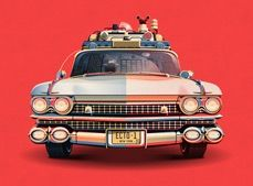 Ecto 1 - 30th anniversary illustration