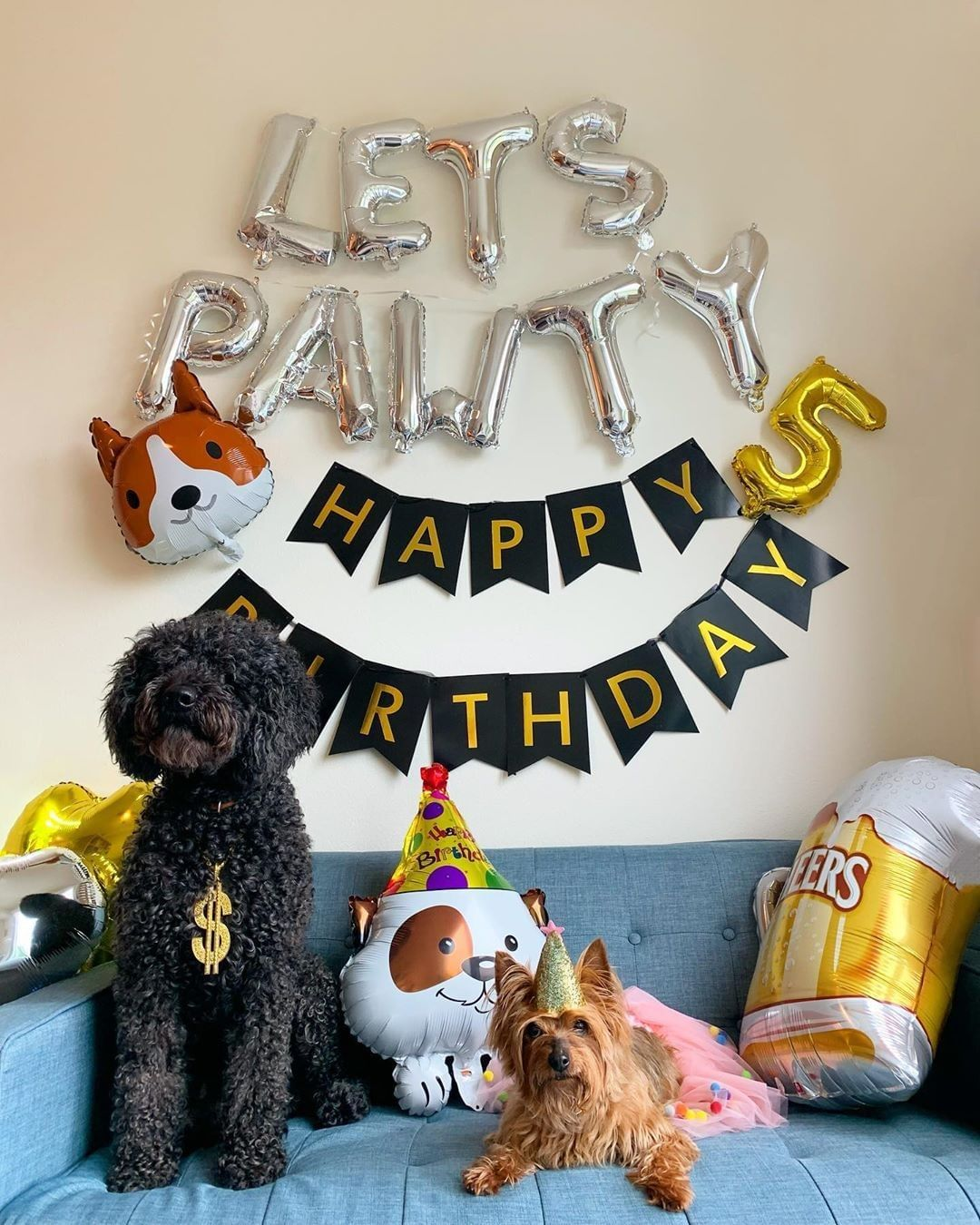 Lets Pawty Balloons Puppy Birthday Party Decoration Puppy Birthday Party Decor Balloon Dogs Birthday Party Banner Sign Puppy Birthday Parties Puppy Birthday Dog Birthday