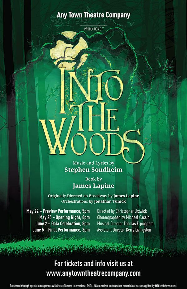 Into The Woods Poster Theatre Artwork Promotional Material By Subplot Studio Poster Play Poster Set Design Theatre