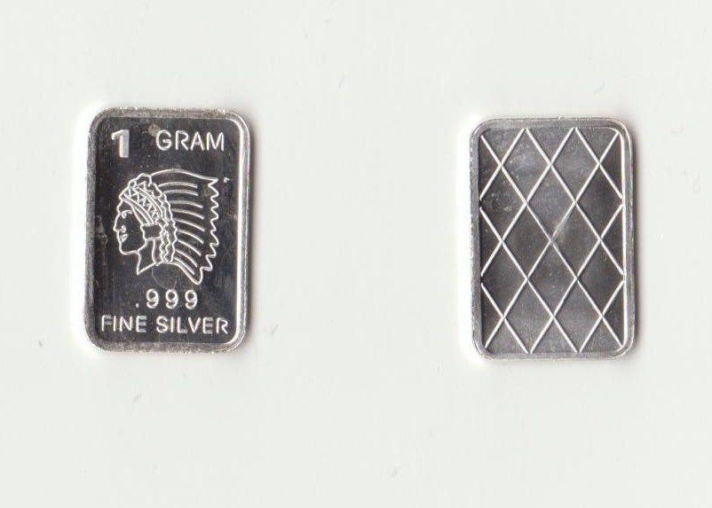 999 Fine Pure Silver 1 Gram American Indian Chief Bullion Art Bar Ingot Ebay