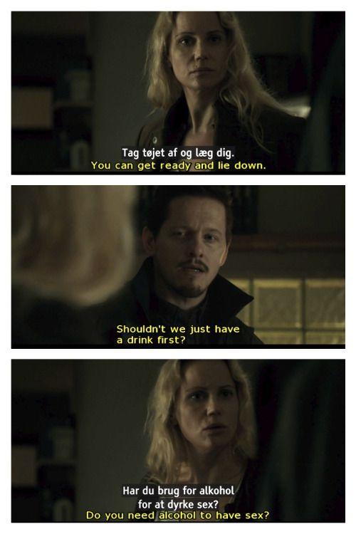 Saga Norén and Henrik Sabroe in the third season of The ...