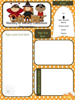 october newsletter parent communication preschool parent board