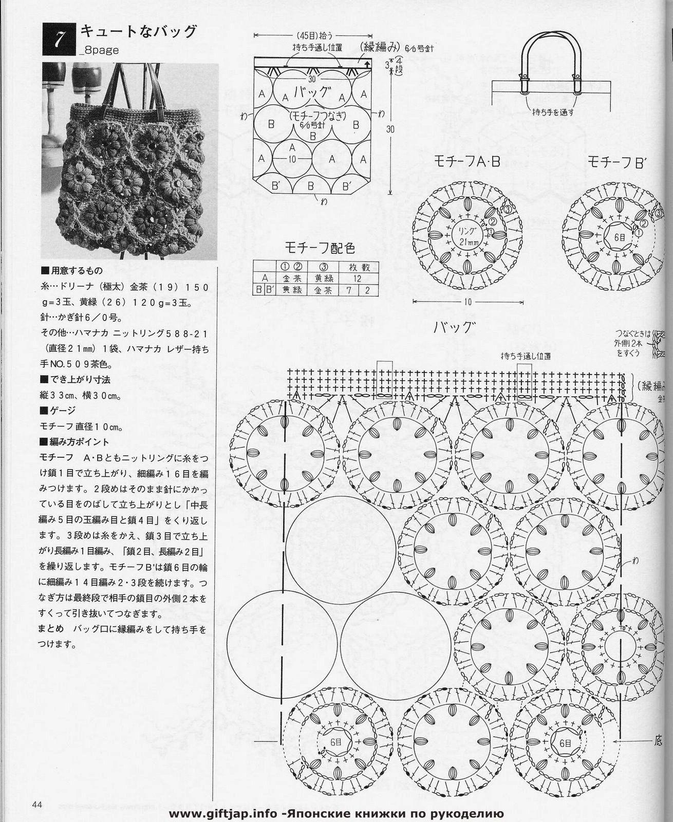 Mossita Bella Patrones Y Graficos Crochet Bolsa Con