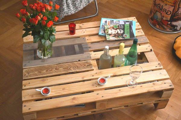 1001 id es diy pour faire une table de chevet en palette - Fabriquer une table basse en bois ...