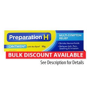 Canadian Preparation H With Biodyne Ointment 50 Grams Preparation H