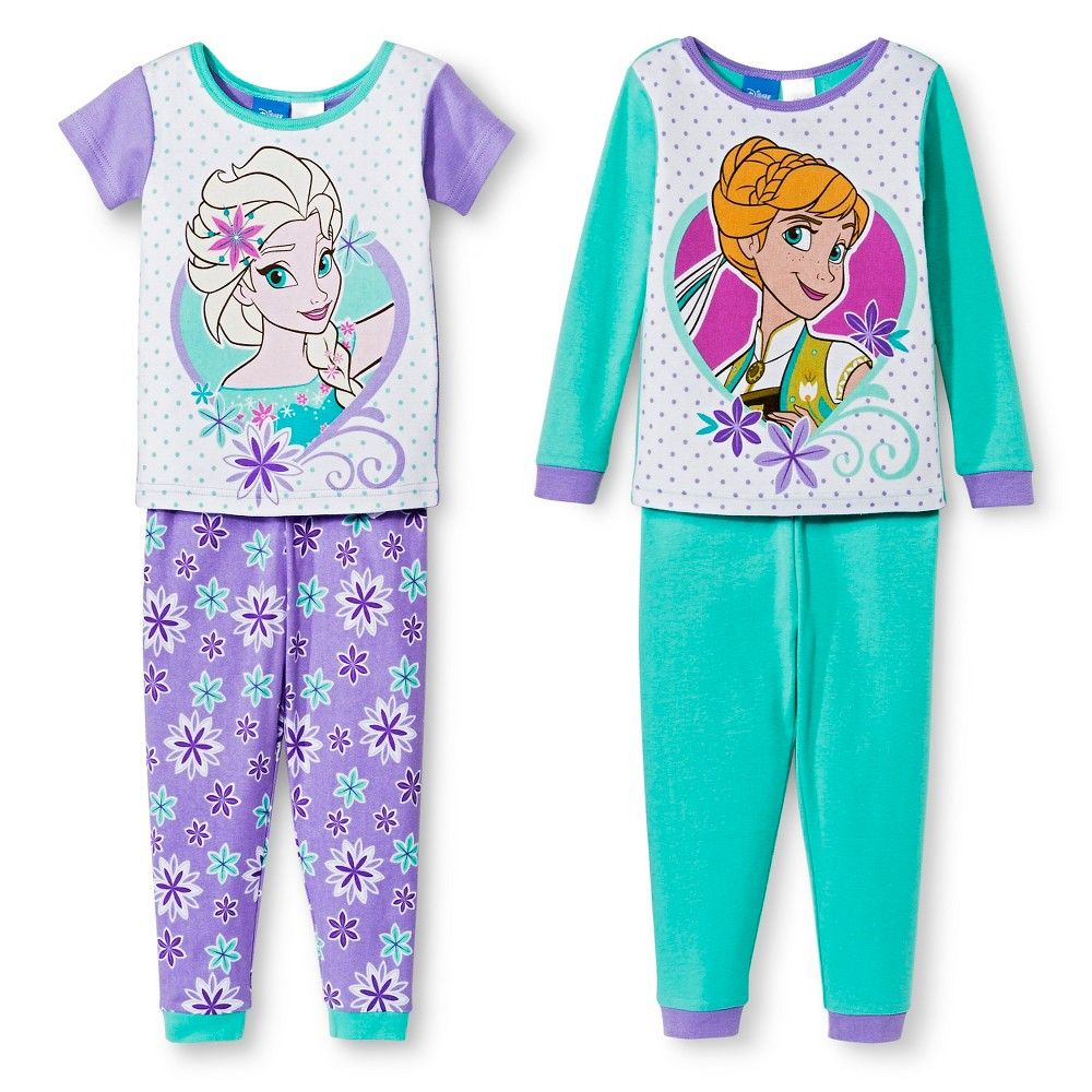 c7b8685ef Disney Frozen Toddler Girls' 4-Piece Pajama Set Multicolored 18M, Toddler  Girl's, Size: 18 M, Purple
