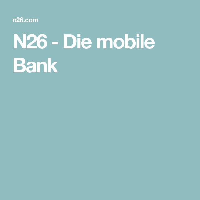 N26 - Die mobile Bank