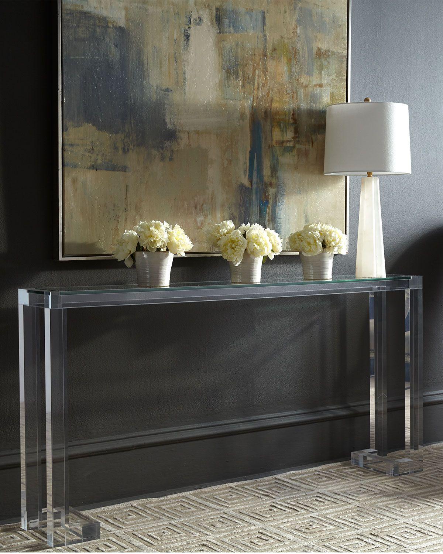 Interlude Home Naomi Acrylic Console Table | Modern ...