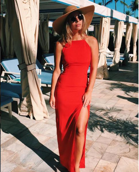 Natasha Oakley in a dress by SWF Boutique