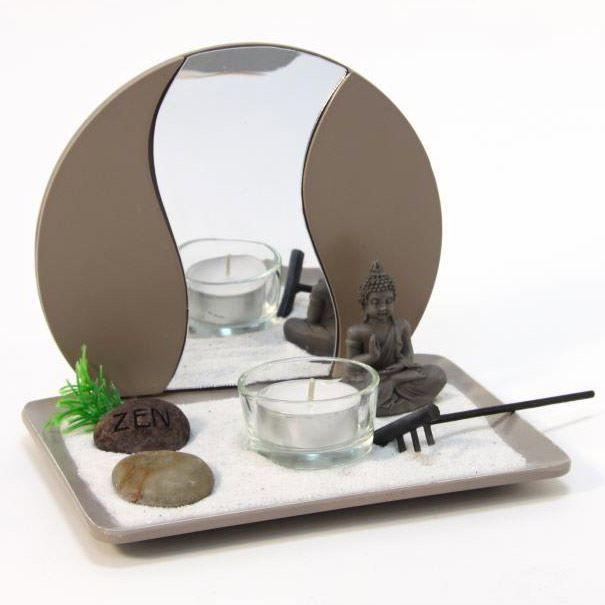 Jardin japonais zen jardin zen japonais bouddha avec for Miroir japonais