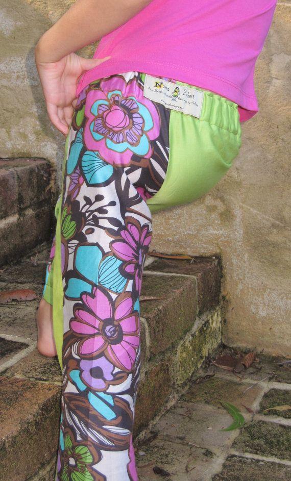 Happy Pants  GIRLS size 2  6  low rise skinny leg by NannaBonkers, $35.00