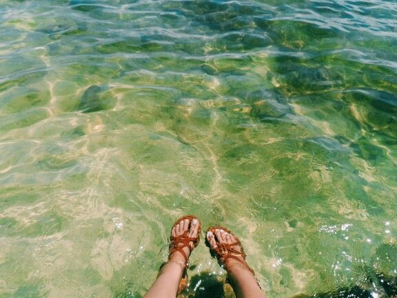 I remembered I was alone with my feet in the water talking to you on the phone while I was wondering what the heck