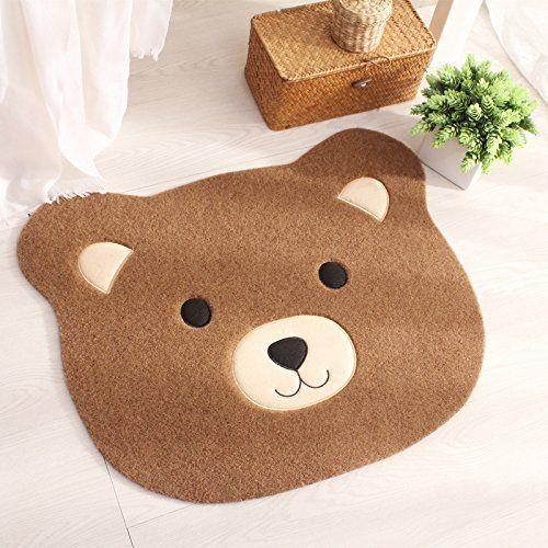 . Ustide Polyester Doorway Rug Childrens Cartoon Rug Cute Bear Big