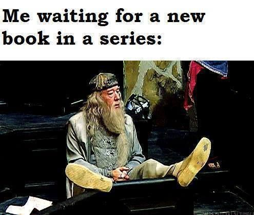 Image result for waiting for books to come out meme