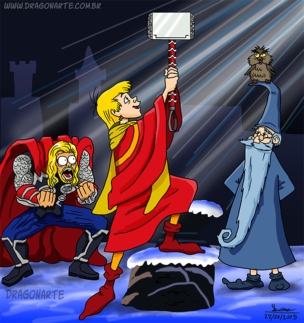 Quien Mas Puro De Corazon Que El Rey Arturo Historietas Divertidas Humor De Nerd Memes De Superheroes