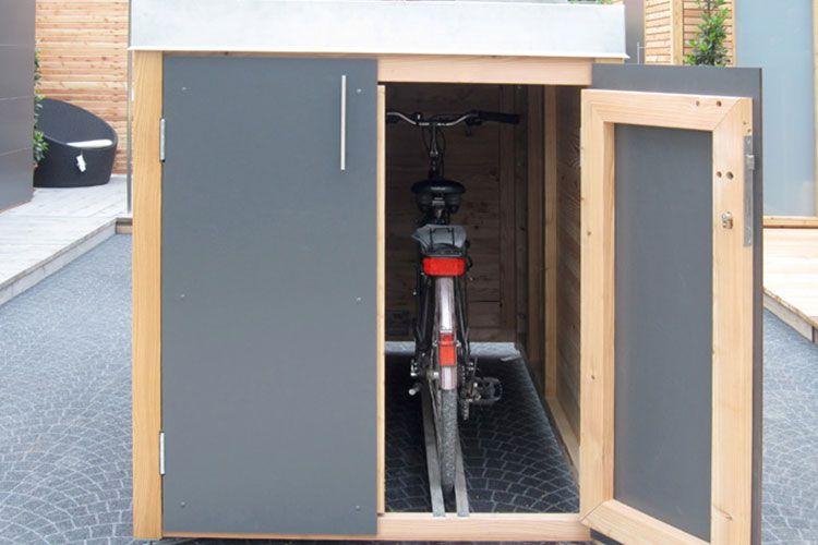 fahrrad und motorradgaragen die traumgarten ag diy und selbermachen pinterest fina. Black Bedroom Furniture Sets. Home Design Ideas