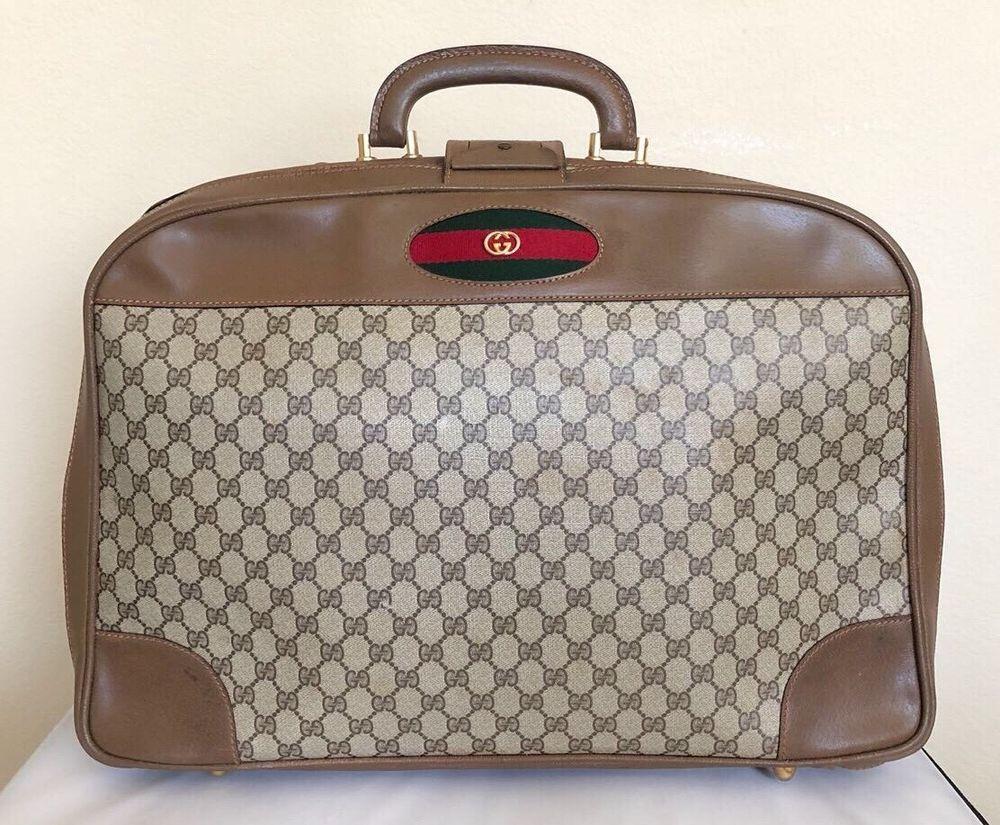 Gucci Vintage GG Supreme Travel Bag   eBay Sacs À Main Vintage, Sacs De  Voyage bb4d0e79110
