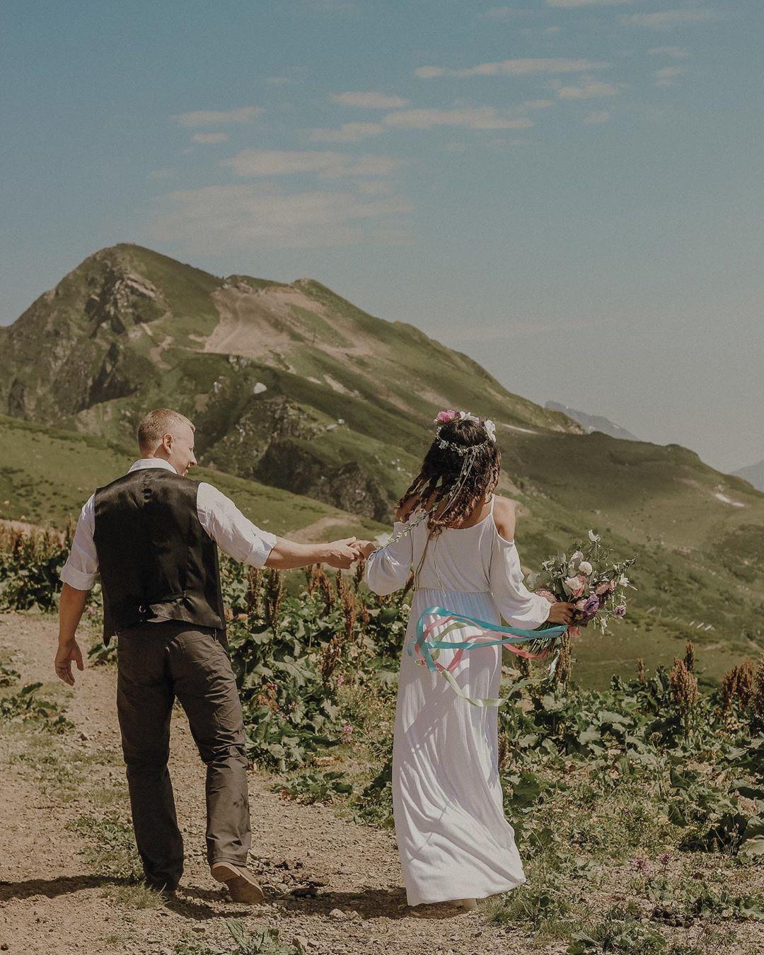Свадьба в горах в 2020 г | Свадебные фото, Фотографии, Свадьба