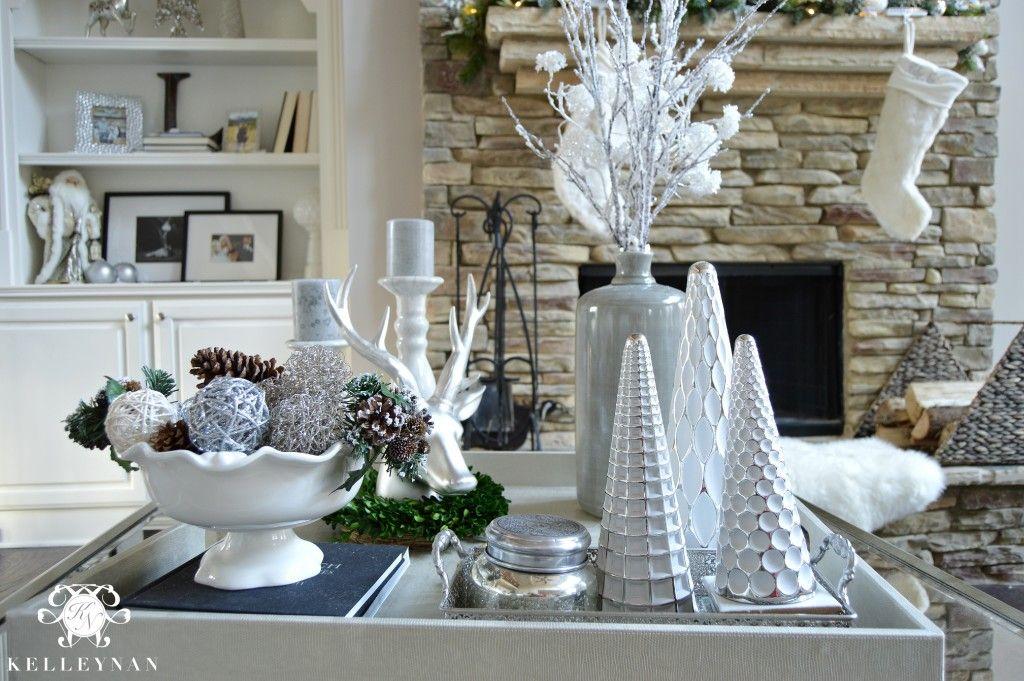 2015 Christmas Home Tour Christmas Coffee Table Decor White Christmas Decor Christmas Home