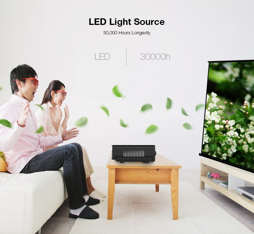 H100 LED Portable Projector Home Theater 600 Lumens 480 x 320P ...