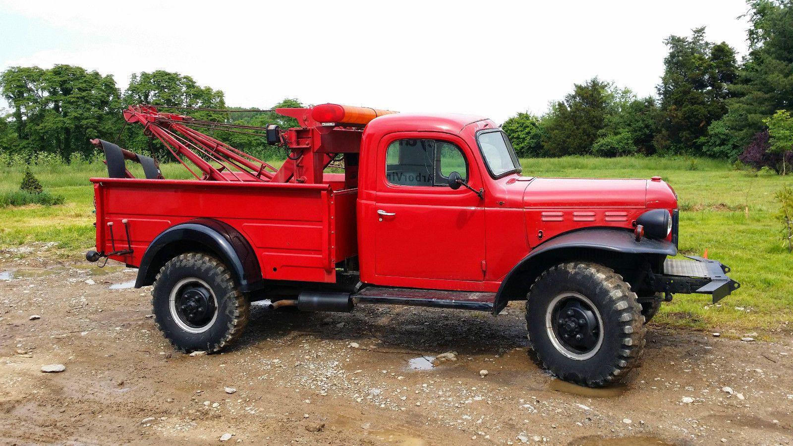 1947 Dodge Power Wagon Wrecker Wagons Pinterest 1954