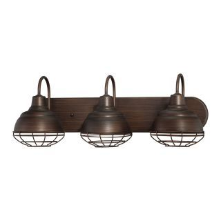 Photo of Millennium Lighting 5423-RBZ Rubbed Bronze Neo-Industrial 3 Light Bathroom Vanity Light
