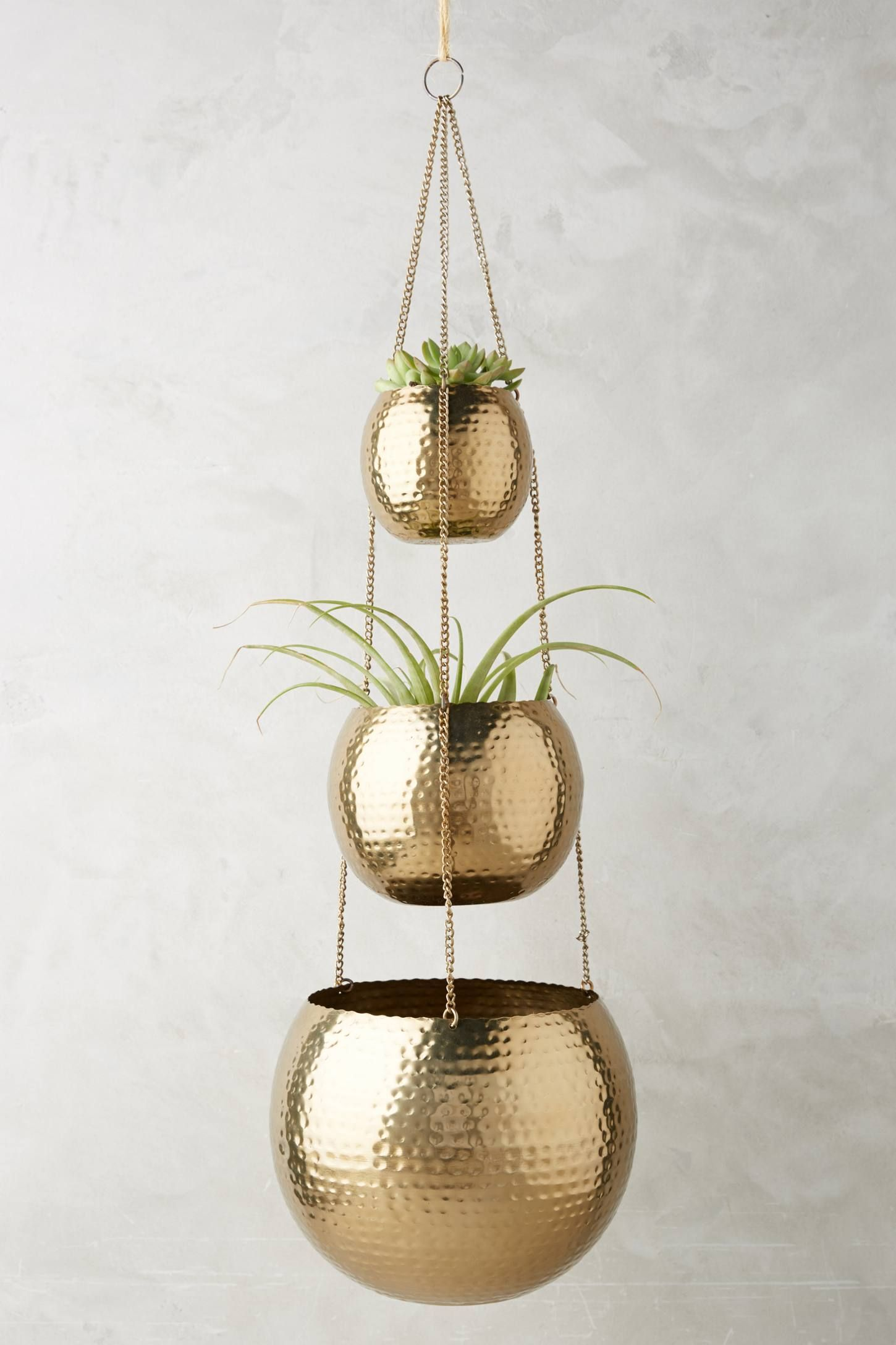 The Hammered Trio Plant Hanger And More Anthropologie At Today Read Customer Reviews Discover Product Detailore