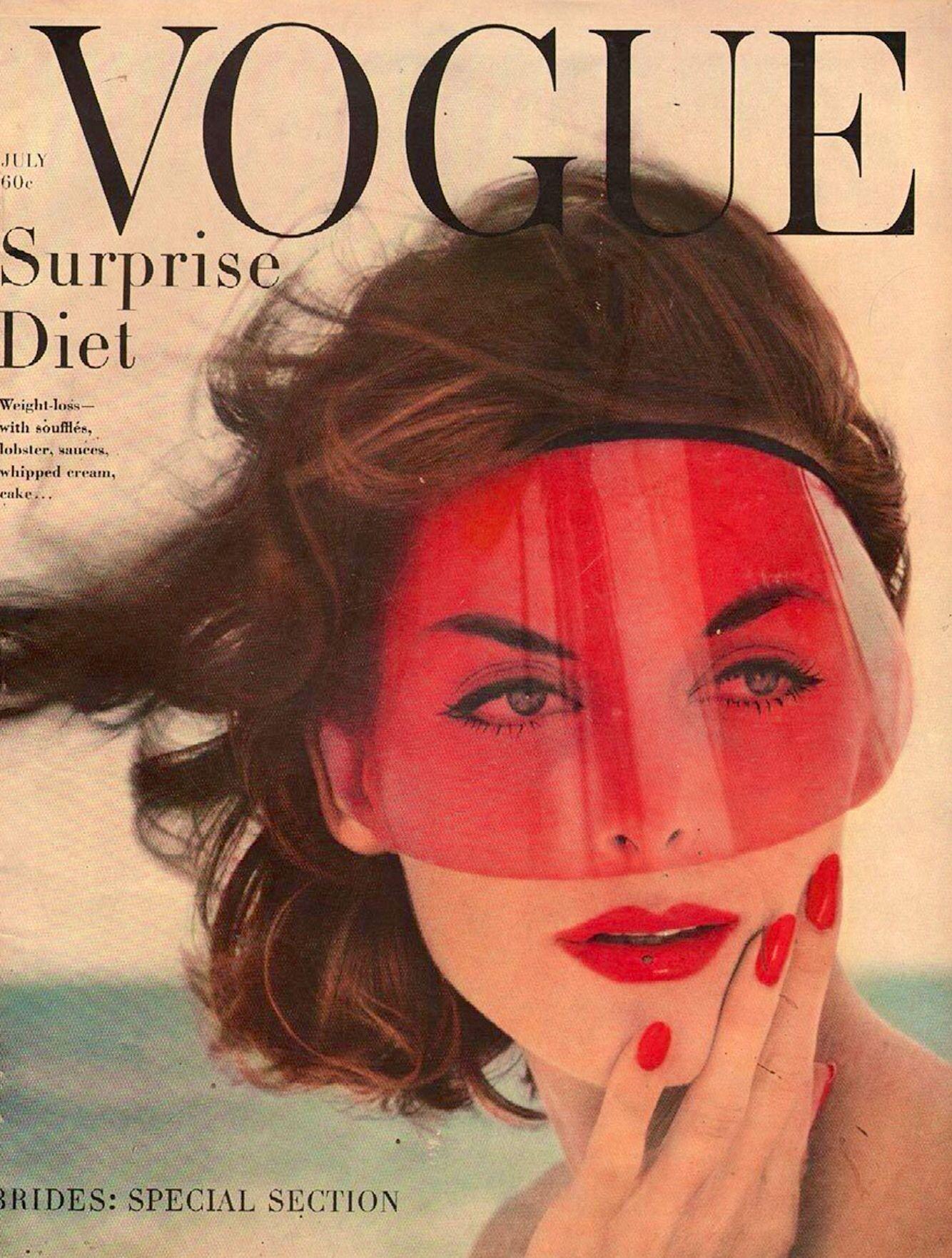 Vogue Magazine, July 1958   Vogue Magazine Covers ...