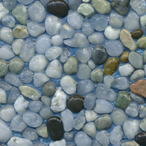 Mediterranean : Translucent White Pebbles Are Combined With A Small Amount  Of Glossy Black Pebbles.