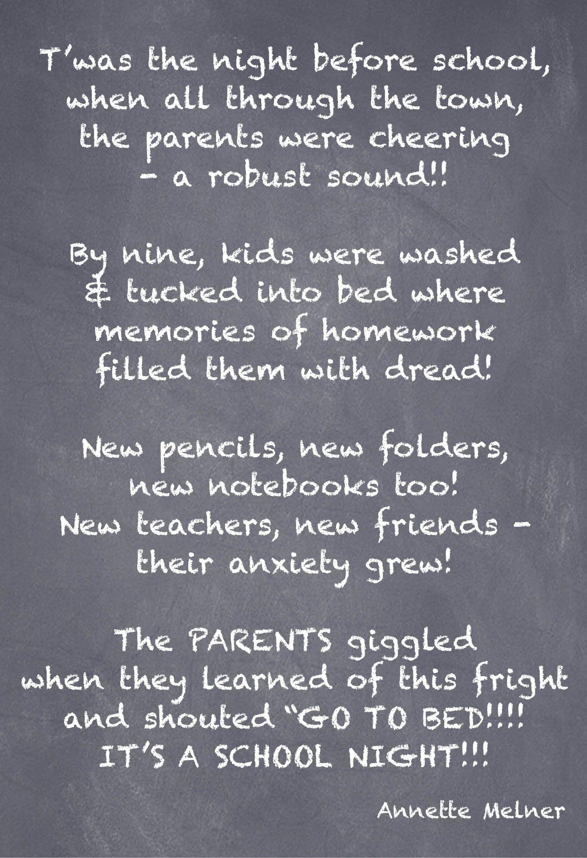 Back To School Poem School Poems Poem And School